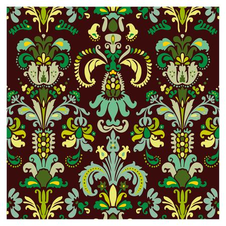 Background of baroque patterns on a wallpaper  Banque d'images - 122016075