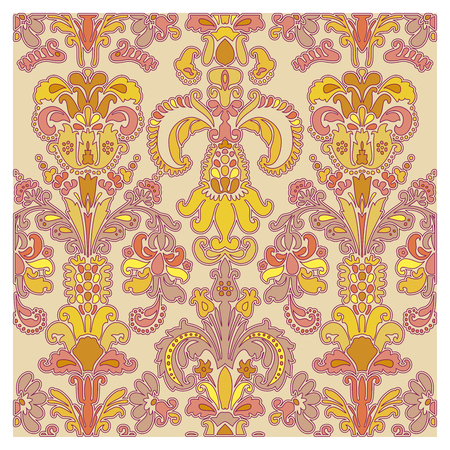 Background of baroque patterns on a wallpaper  Banque d'images - 122016078