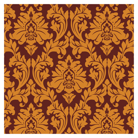 Background of baroque patterns on a wallpaper  Banque d'images