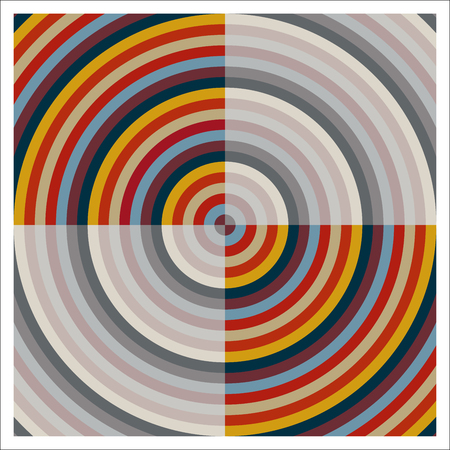 Vector and colorized target with transparency