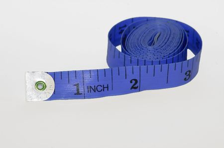 centimetres: Isolated picture of tape measure