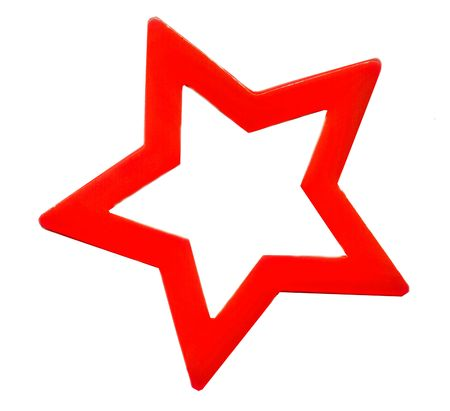 red star outline with white background Stock Photo - 5861149