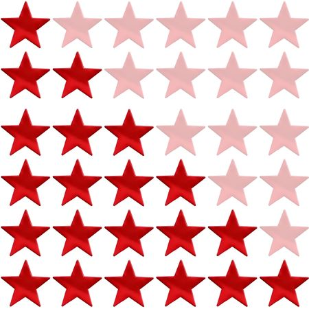 five stars: star rating from one to six on a white background