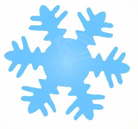 blue snowflake photo