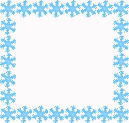 blue snowflake border photo