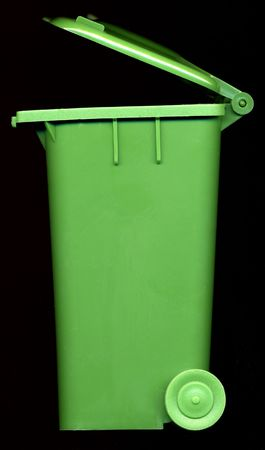wheelie bin with lid open photo
