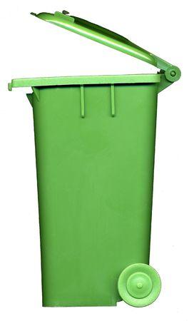 green wheelie bin photo