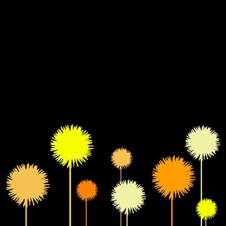 web presence internet presence: flower illustration Stock Photo