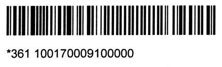 to encode: long black barcode