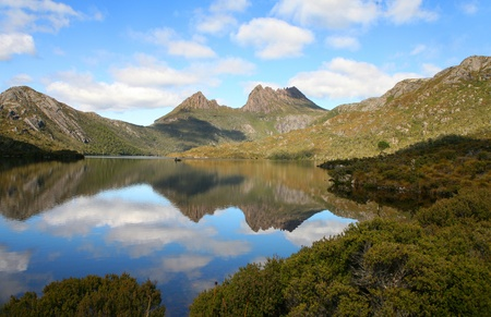 tasmania: dove lake, cradle mountain, tasmania, australia Stock Photo