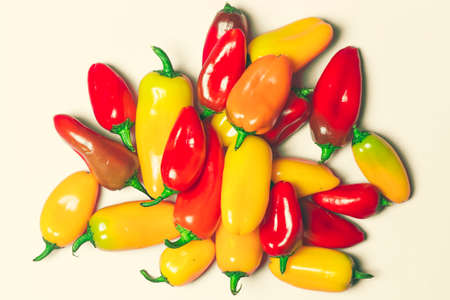 sweet peppers: Yellow and Red Sweet Peppers Stock Photo