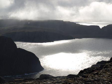 ruggedness:  Vista dalla Norvegia Capo Nord.