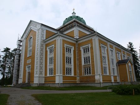 the largest:        Largest wooden church in the world in Finland
