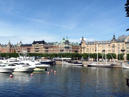 Stockholm-view of the marina. photo