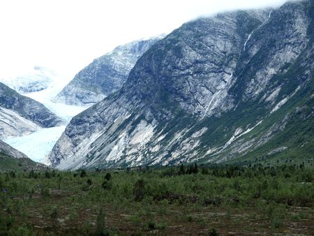 jostedal: Jostedal Glacier National Park in Norway Stock Photo