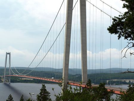 veda: Hoga Kusten Bridge near Veda Sweden