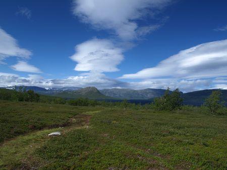 Somewhere between Kiruna and Abisko in Sweden photo
