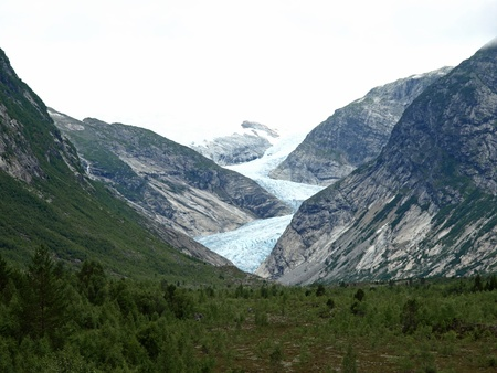 jostedal: View from Jostedal Glacier in Norway