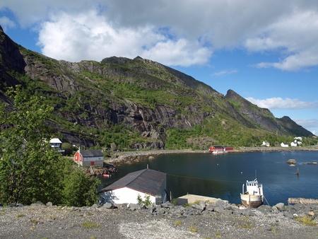 Landscape from the Lofoten Islands in Norway photo