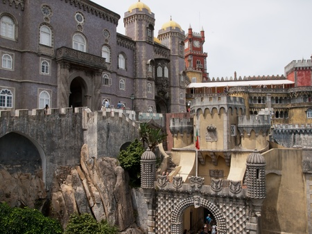 pena: Pena Palace in Sintra, Portugal Editorial