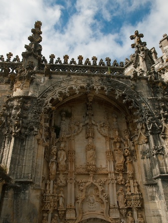 convento:  Portal of church Convento de Cristo ,Tomar Portugal