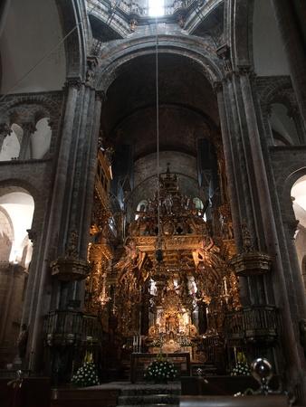 Santiago de Compostela in Spain-altar