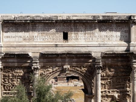 severus: Arch of Septimius Severus -Forum Romanum Editorial