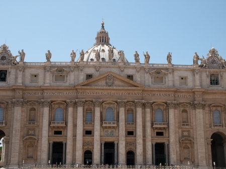 The facade of the St.Peter's Basilica in Vatican Stock Photo - 15265814