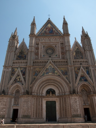 corporal: Facade of the Cathedral in Orvieto,Italy