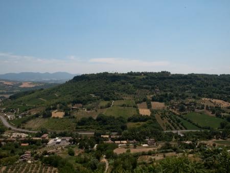 orvieto: Vista desde las murallas de Orvieto en Italia Foto de archivo