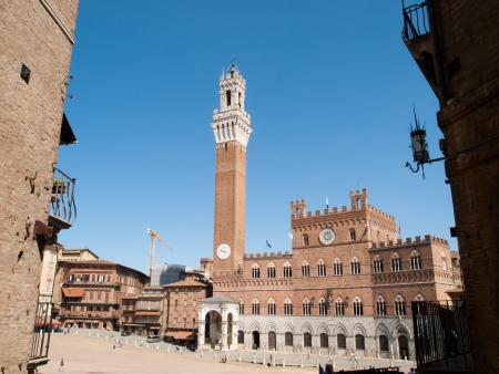 sienna: View of City Hall of Siena,