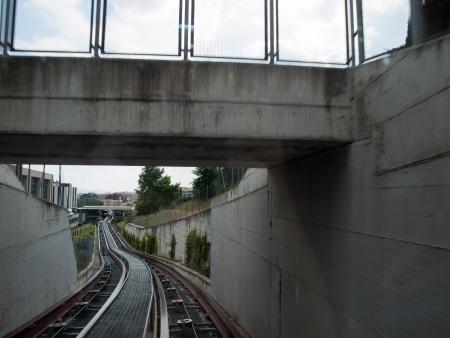overbridge: Route of Mini Metro rail line in Perugia,