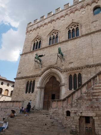 priori: Facade of  Palazzo dei Priori-City Hall in Perugia