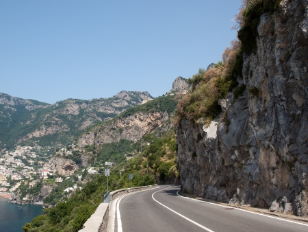 sinuous: Sinuous way-Amalfi Coast in Italy Stock Photo