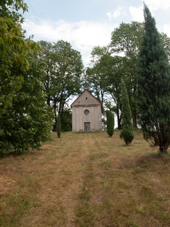 anne: Old small Church of  St. Anne  in Studzianna,Poland