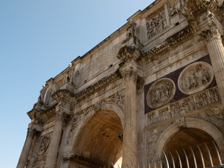 constantine: Arch of Constantine in Rome Italy Stock Photo