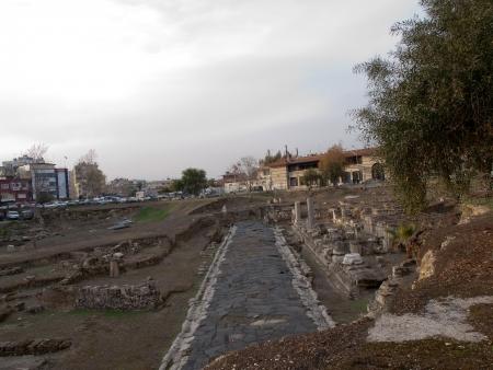 tarsus: Ancient Roman road  in Tarsus in Turkey Stock Photo