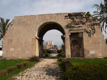 tarsus: Ancient Cleopatras Gate in Tarsus in Turkey Stock Photo