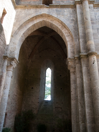 The ruins of the Abbey of San Galgano in Italy photo