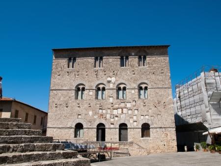 massa: The facade of Palazzo del Podesta in Massa Marittima,Italy