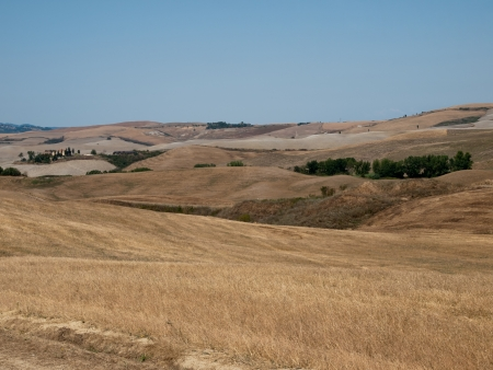 volterra: The landscape from regions Volterra in Tuscany