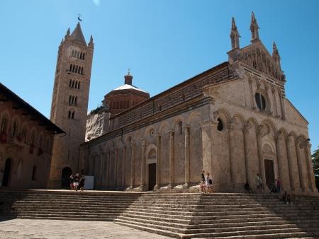 massa: The romanesque Cathedral of Massa Marittima,in Italy