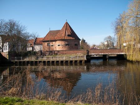 Marschtor ward -old fortifications in Buxtehude Редакционное