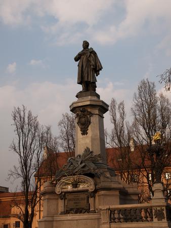 mickiewicz: The statue of Adam Mickiewicz in Warsaw