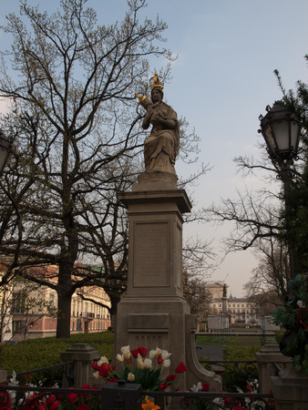 Figure de la Grande Dame de Passau à Varsovie Banque d'images - 27258024