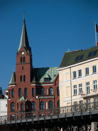 gustaf: Swedish church Gustaf Adolf in Hamburg,Germany Stock Photo