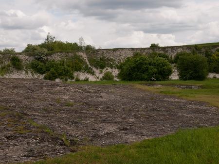 inanimate: Abrasion platform-Inanimate nature reservation Bonarka in Krakow,Poland
