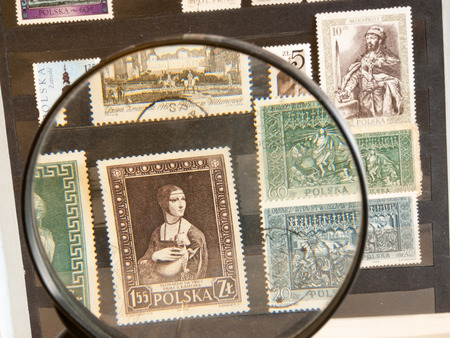 philatelist: Postage stamps in the stamp-album