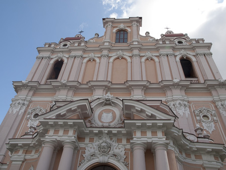 casimir: The facade of the St. Casimirs Church in Vilnius