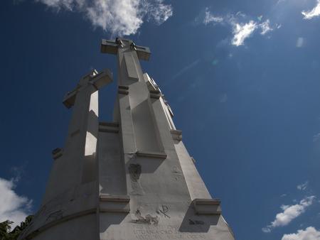 vilnius: Three Crosses in Vilnius in Lithuania Stock Photo